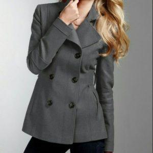 NWOT Belk charcoal grey trench coat jacket peacoat
